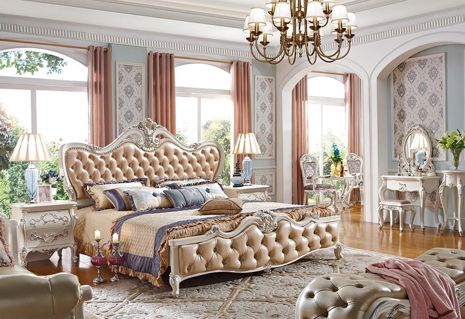 奢华法式新贵实木婚床