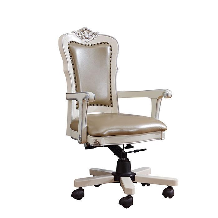 欧式实木书椅真皮靠背书桌椅