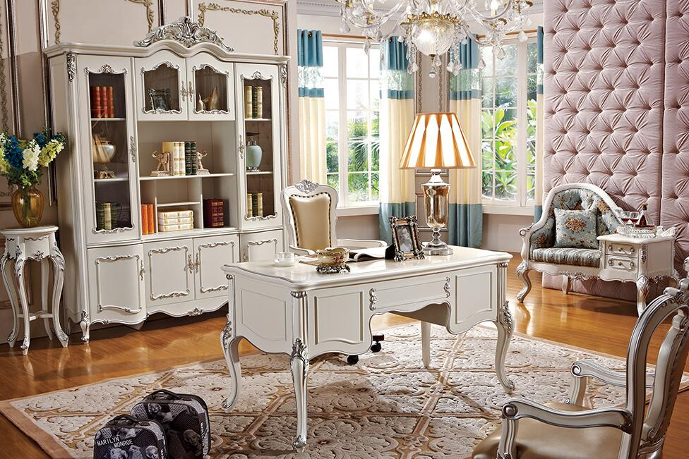 法式雕花实木书柜